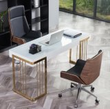 Modern Wooden Venner PU Leather Office Chair with High Back Staff Executive Office Furniture for Home, School, Computer