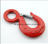 Painted Us Type Drop Forged Eye Hoist Hook with Latch