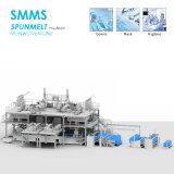 SMMS 2400mm Spun Bond Meltblown Face Mask Nonwoven Fabric Making Machine and Non Woven Textile Mahcinery Price for Agriculture