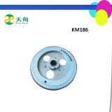 Km186 Diesel Motor Parts Cast Iron Flywheel Assy Manufacturer