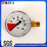 OEM En837-1 Carbon Dioxide Pressure Gauges with Horizontal Brass Connector 50mm 63mm 160 Bar