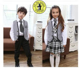Factory Price British Style Uniform School with Ties