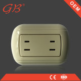 South American 2 Gang 2pin Wall Switch and Socket