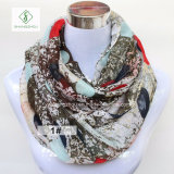2017 Newest Europe Colourful DOT Printed Fashion Lady Infinity Scarf