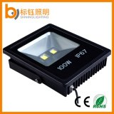 Ultrathin Slim IP67 Black Garden Light Exterior Outdoor Lighting 100W LED Flood Light