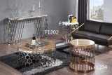 Modern Designs Round Coffee Table with Marble Top