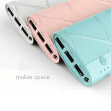 12000mAh  Mobile Power Bank with 3 USB Ports for Universal Portable Charger Supply