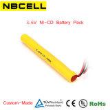 3.6V Ni-CD Battery Pack (AA 700mAh) for Emergency Light