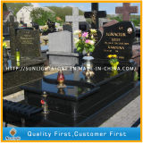 Poland Style Shanxi Black Monument/Gravestone/Tombstone with Simple Design