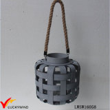 High Quality Classic Home Decoration Candle Lantern with Rope Handle