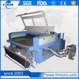 Double Heads CO2 Fabric Laser Cutting Machine with Automatic Feed