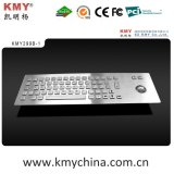 Self-Service Kiosk IP65 Stainless Steel Metal Keyboard with Trackball
