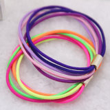 5 in 1 Mixed Colors Fashion Elastic Rubber Hair Bands (JE1541)