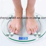 Blue Screen Backlight Classic Round 2003A Glass Weight Bathroom Scale Beauty Body Scale