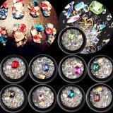 2018 Wholesale Nail Art Shining Design 9 Styles Micro Crystal Beads Mixed 3D Nail Decor Crystal Stone for Nail Art