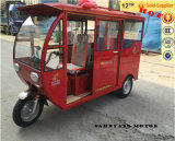 China New Classic Auto Rickshaw Passenger Tricycle, Bajaj Trike, Closed Gas Three Wheel Motorcycle
