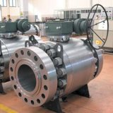 Industrial Cast & Forged Stainless Steel Mounted Trunnion RF/Bw Ball Valves Gear