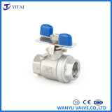 Female Thread Stainless Steel Butterfly Handle 2PC Ball Valve