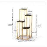 4-Layer Metal Flower Stand Flower Potted Plant Indoor Stand 0520