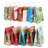 Recycle Kraft Paper Printing Christmas Gift Bag for Shopping