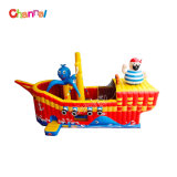 Wholesale Custom Pirate Ship Inflatable Wet Dry Slide