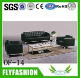 Of14 High Quality PU Living Room Sofa Lattice Durable Office Furniture Sofa