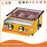 2 Burners Gas BBQ Grill Gas Roaster Oven Cookware Barbecue Grill Machine