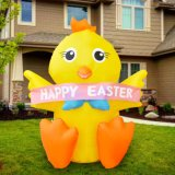 Inflatable Baby Chick with Banner Happy Easter Wholesales Price From China Factory