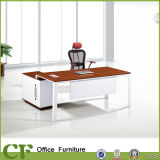 Red Modern Ergonomic Office Executive Table with Side Table