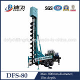 Intelligent Remote Control Operation! ! ! Defy Brand Dfs-80 Auger Piling Drilling Rig