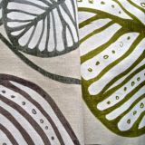 100% Hemp Print Fabric for Garment and Home Textile (QF13-0111)