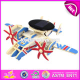 New Design 3D Airplane Building Toy Wooden Puzzles for Toddlers W03b071