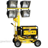 5kw Small Portable Mobile Light Tower Powered by Diesel or Gasoline Generator