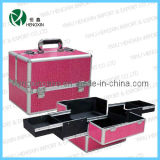 Aluminum Cosmetic Makeup Nail Art Nail Care Beauty Case (HX-C4534)