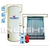Split Heat Pipe Solar Water Heater with Single Coil
