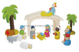 Intellectual Educational Wooden Toys for Kids Gift, Christmas Nativity Playset