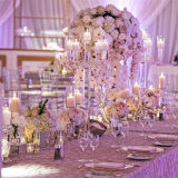 Crystal Candelabra Wedding Candleholder Table Centerpiece Wedding Road Lead Party Props