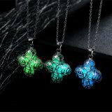 Small Elephant Luminous Necklace 3 Color Necklace Pendant Noctilucent Pendant Necklace, Christmas Halloween Gift