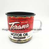 Customized Enamel Cup with Full Printing Enamelware