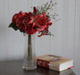 Bouquet of Artificial / Silk &Plastic Flower Lily /Rose /Peony