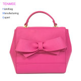 LC-012 Fashion 2018 Bowknot Decor Satchel Bag China Wholesale Price Saffiano Leather Handbags for Women