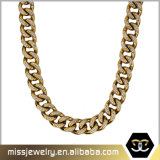 Fashion Jewelry Large Gold Plated Iced out CZ Pave Gold Chain Necklace