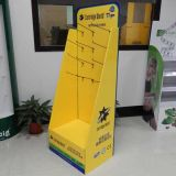 China Cardboard Display Manufacturer, Customized Cardboard Display with Hooks for Print Cartridge