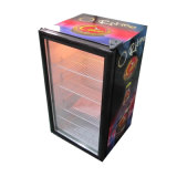 Hotel Build-in Decorated Small Refrigerator Glass Display Showcase (SC-98)