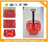 Convenience Store Hand Basket with Wheels Carry or Pull