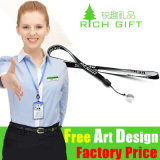 Velcro Printing Tag Polyester Neck Lanyard for E Cigarette