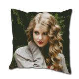 Custom Printing Taylor Swift Pattern Linen Back Cushion Cover