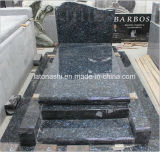 Popular Poland Style Blue Pearl Granite Tombstone for Memorial