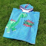 Wholesale Custom 60cm 300-350g Kids Cartoon Terry Hooded Surf Beach Towel Hoodie Cloak Towel Beach Wrap Bathrobe Bathcloak Bath Towel