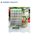 Self Service Salad Jar Canned Vending Machine with Rotating Wheels